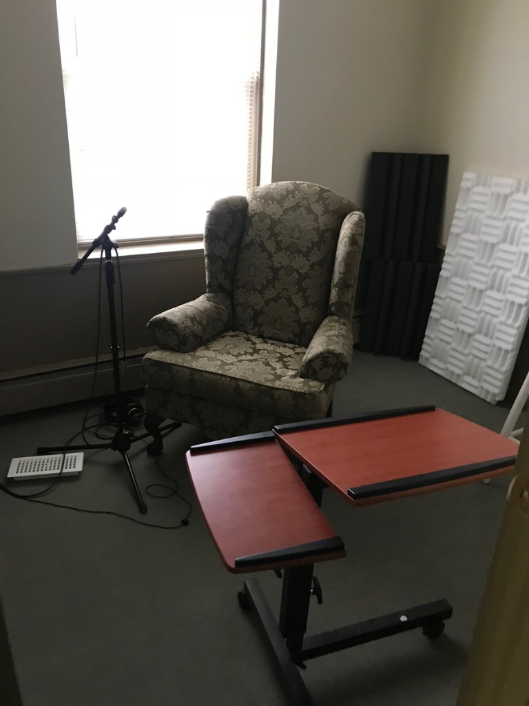 <p><em>One of the smaller recording booths: before.</em></p>