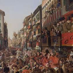 Painting Of Carnival In Rome P